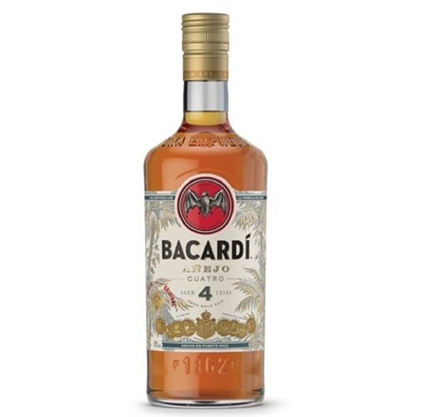 Picture of Bacardi Cuatro 4yr, 70cl