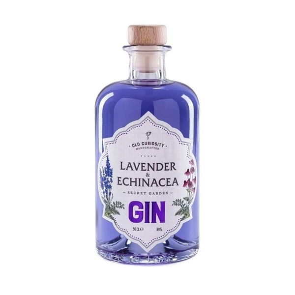 Picture of old curiosity lavender & echinacea gin, 50cl