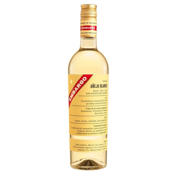 Picture of Embargo Anejo Blanco, 70cl