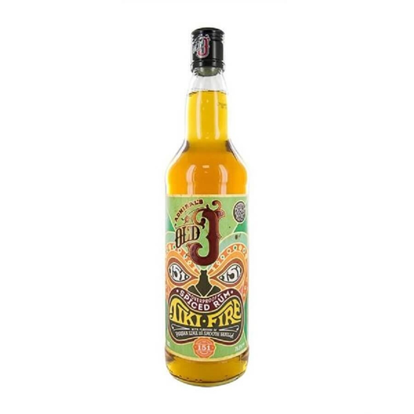 Picture of Old J Tiki Fire Overproof Spiced Rum , 70cl