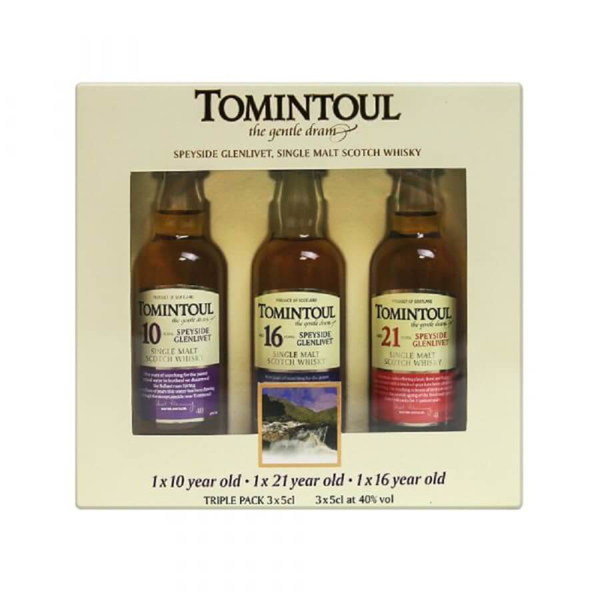 Picture of Tomintoul Highland Gift Pack, 3 x 5cl